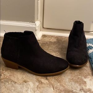 Black booties from Charlotte Russe